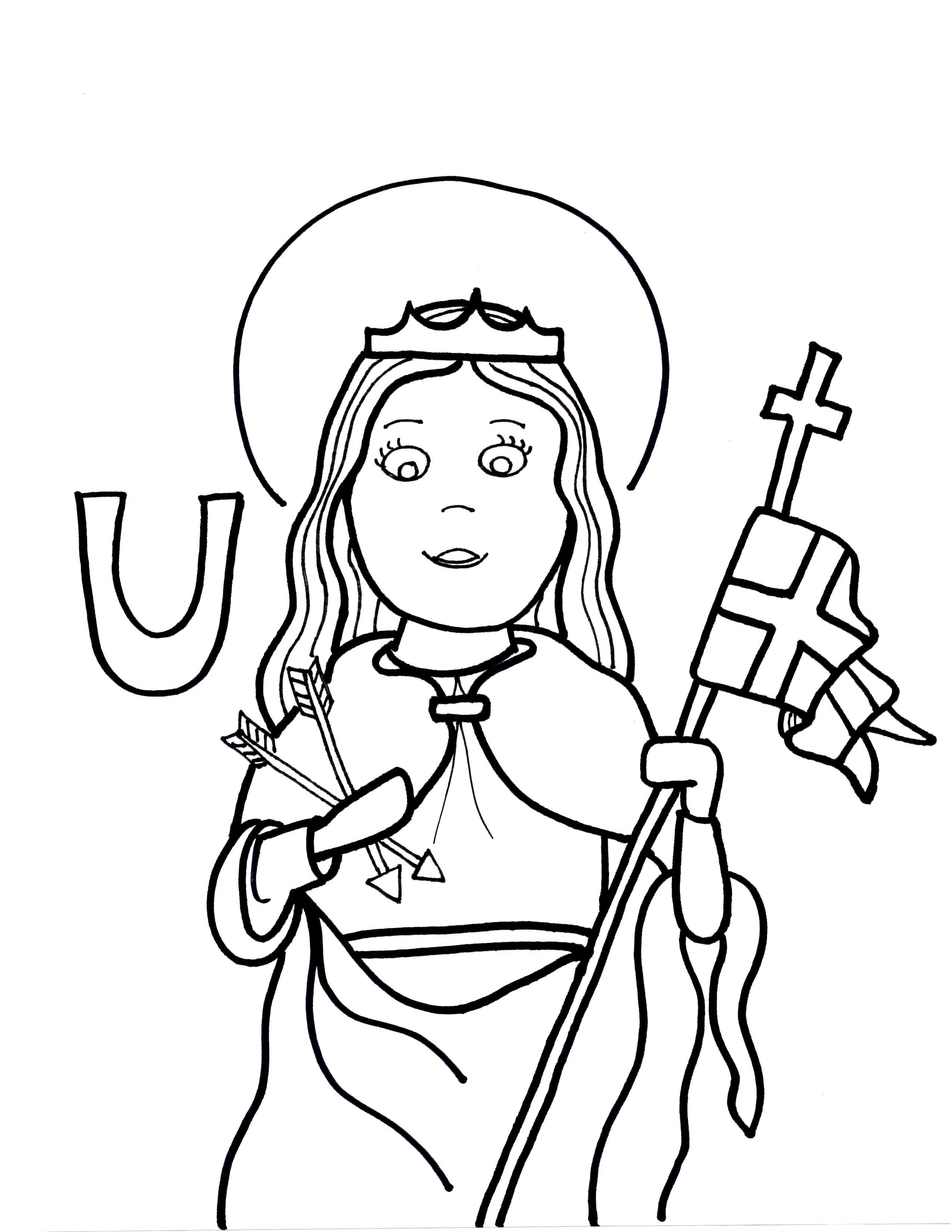 2550x3300 U Is For St Ursula Saints To Color