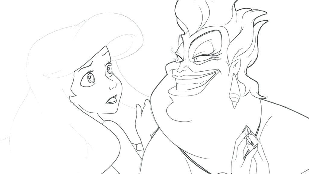 1024x576 Ursula Coloring Page Coloring Page