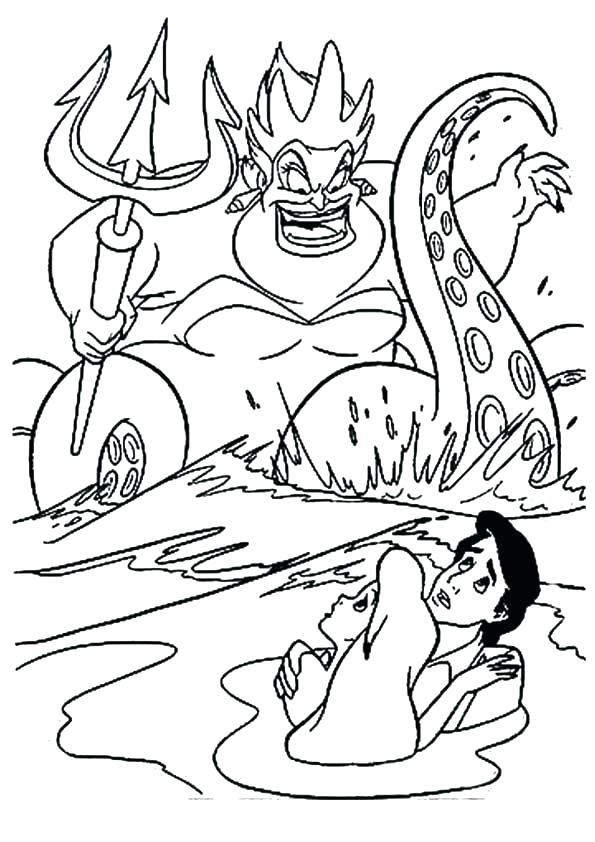 595x842 Ursula Coloring Page Coloring Pages Print Image Best The Little