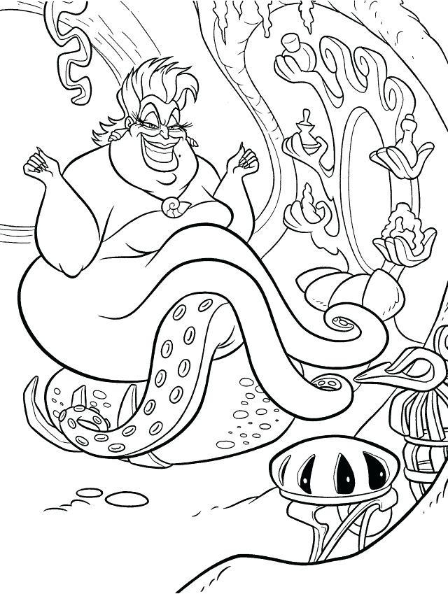 640x849 Ursula Coloring Pages Make A Bet Coloring Page Ariel Ursula