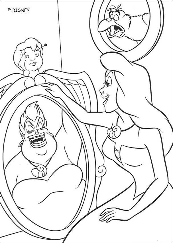 607x850 Disney Ursula Coloring Pages