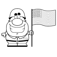 230x230 Military Coloring Pages