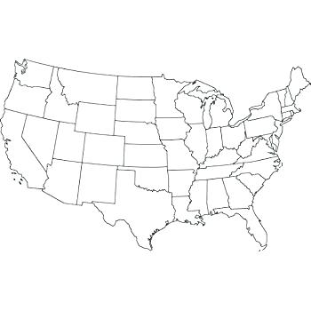 350x350 Coloring Map Of Usa Map Of Coloring Page United States Of Map