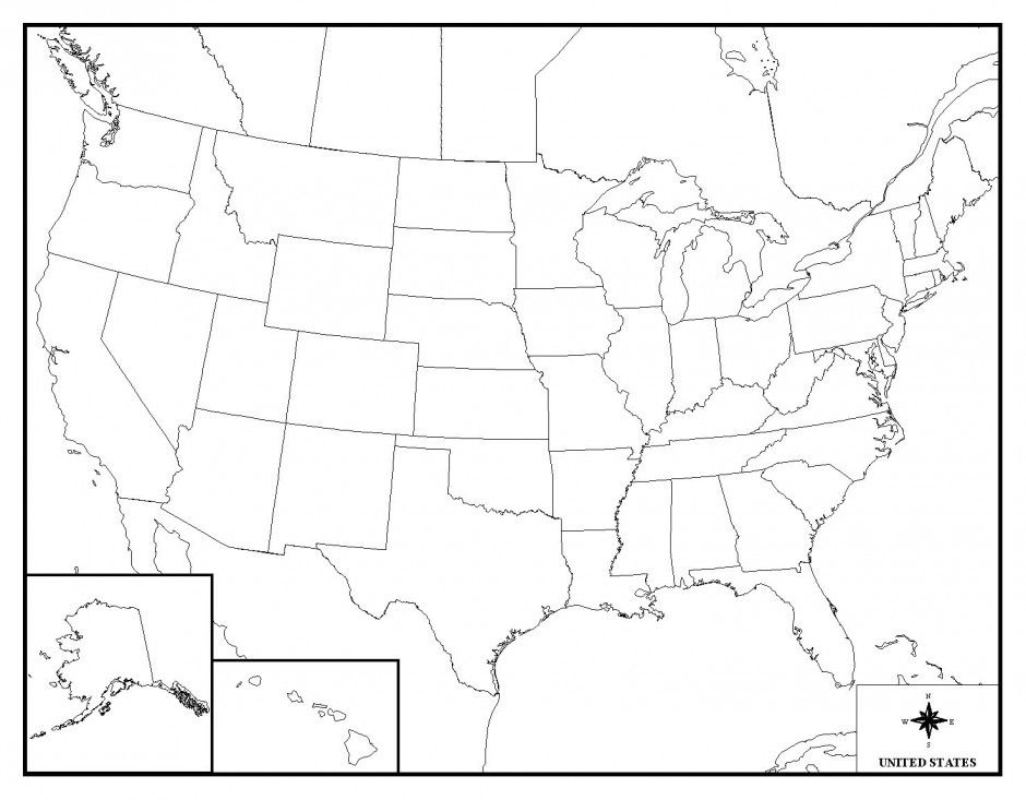 940x733 Usa Map Coloring Page Unique Coloring Pages United States Map