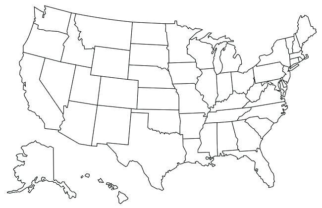 650x420 Elegant Us Map Coloring Page For United States Within Design