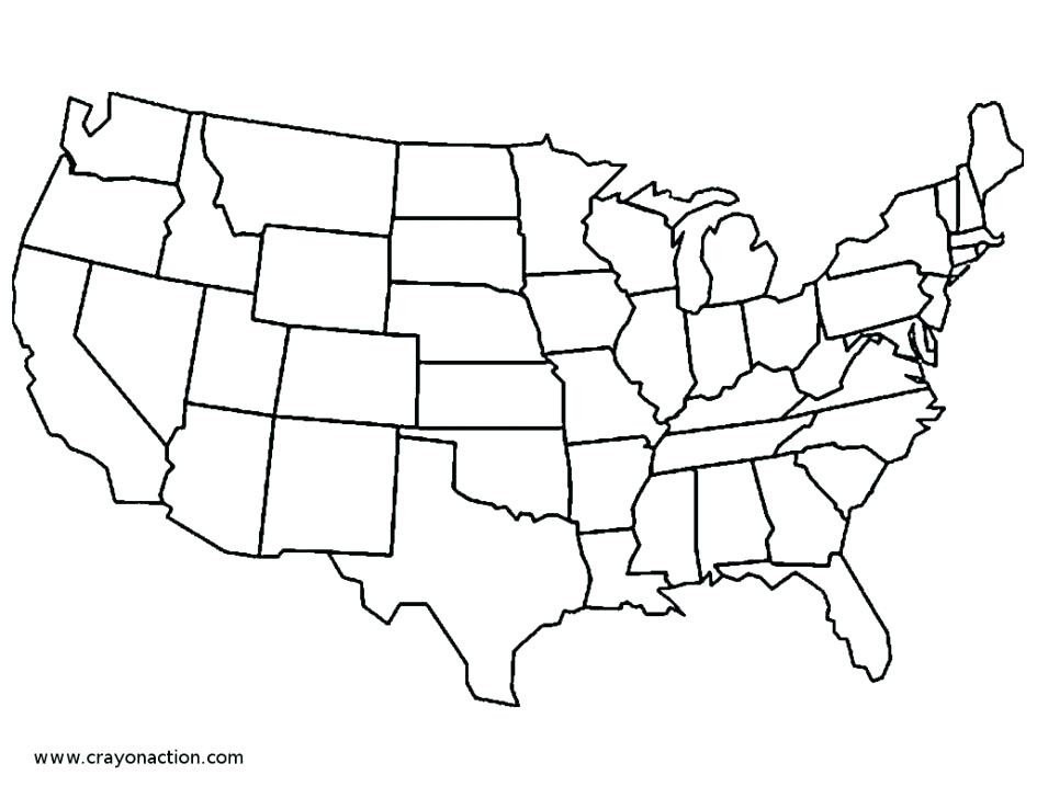 945x728 Fortune Map Of Usa Coloring Page United States Map Coloring Page