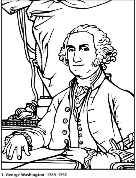 461x600 George Washington Coloring Page, Coloring Pages Of All U S