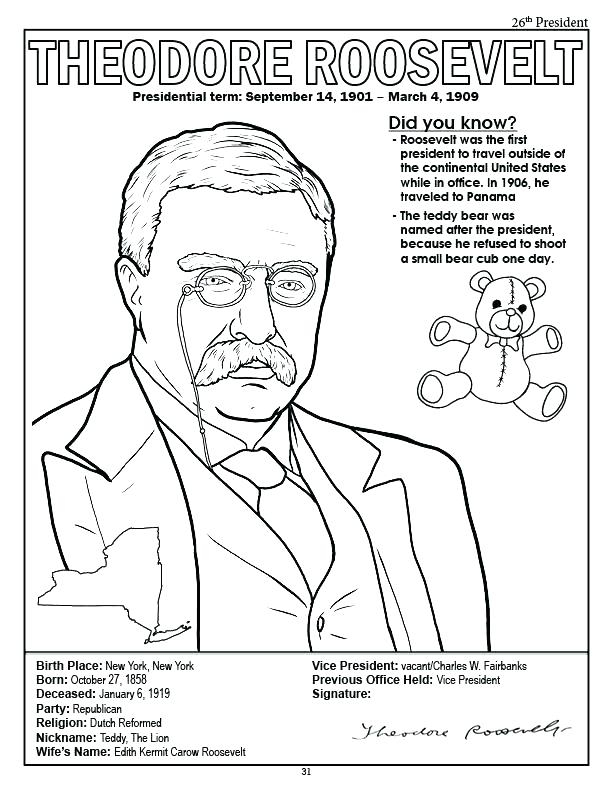 612x792 Presidents Coloring Pages Coloring Books Presidents Coloring Book
