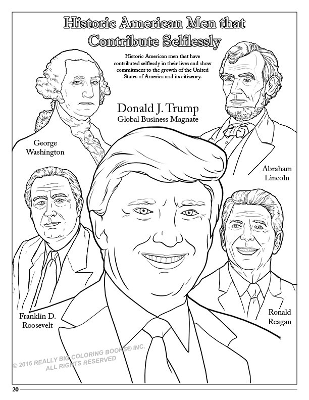 612x792 Presidents Day Coloring Pages