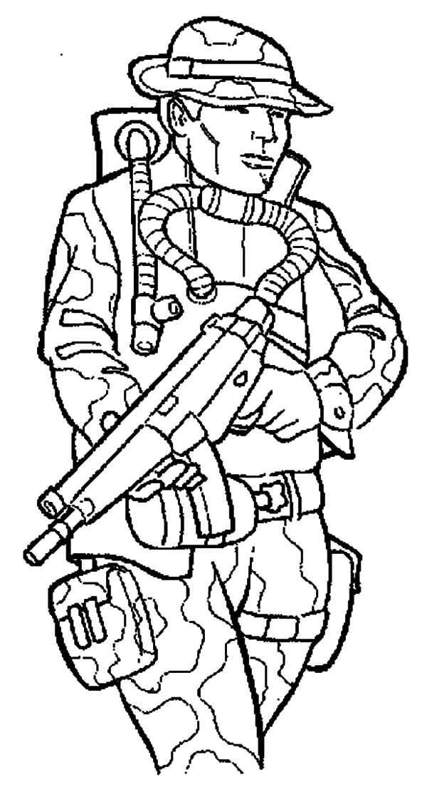 600x1118 Free Army Coloring Pages Soldier Truck Intended For Plan