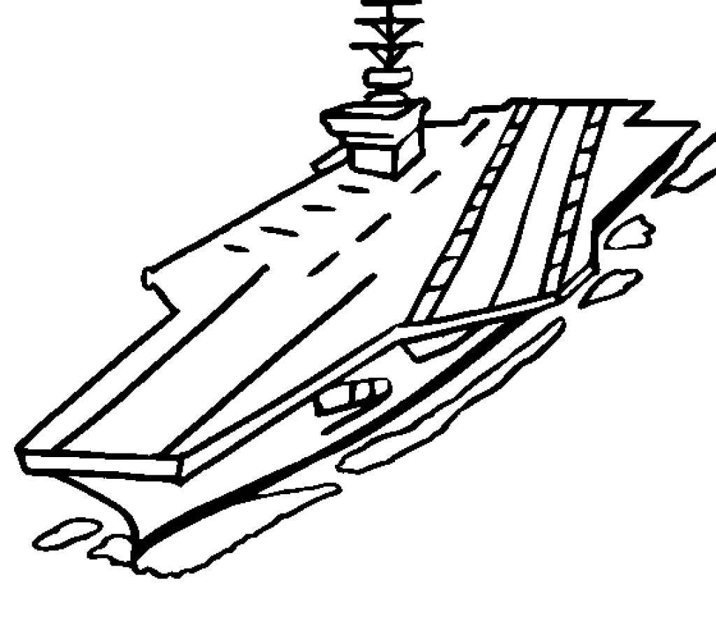 1024x900 Invincible Class Aircraft Carrier Coloring Page Free Planes