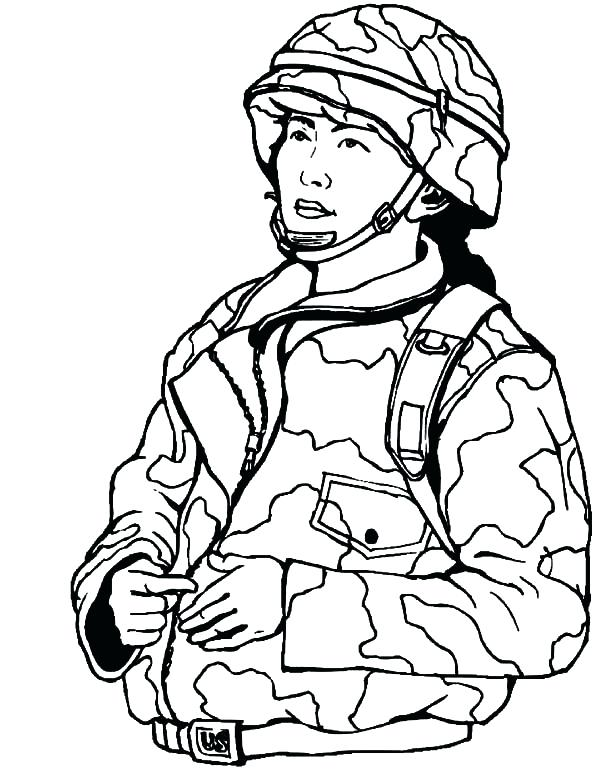 600x776 Military Coloring Pages Military Coloring Page Soldier Coloring