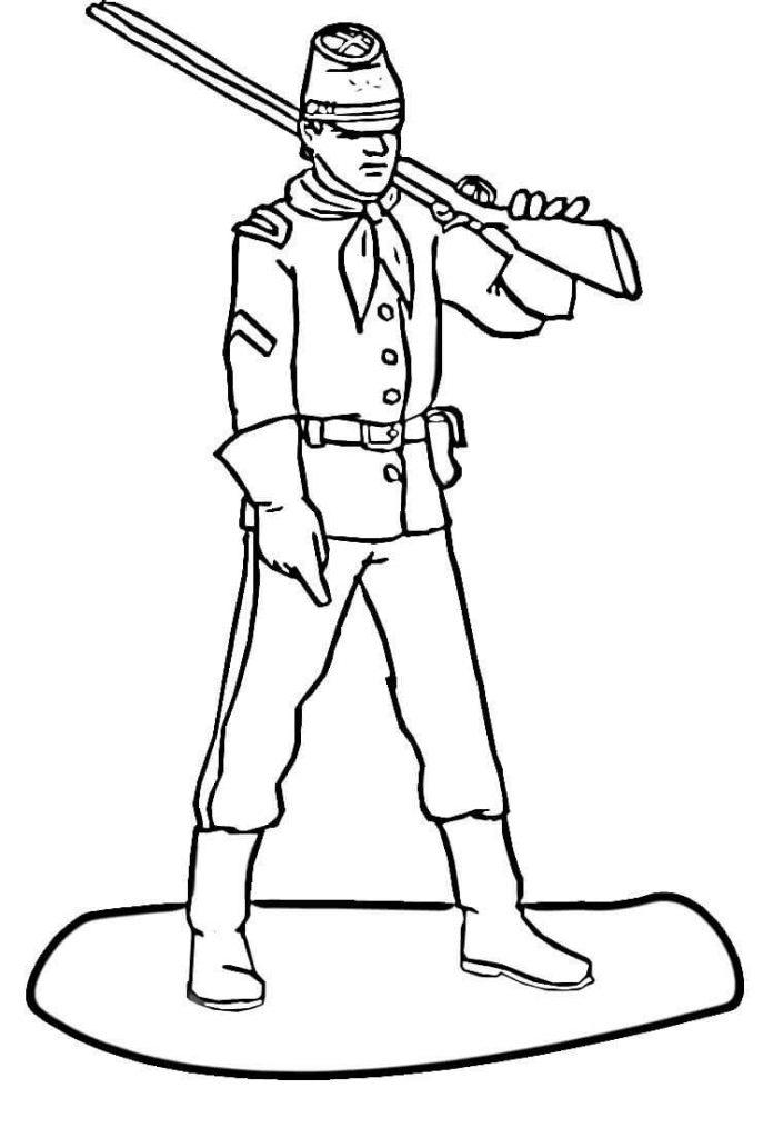 696x1024 Soldier Civil War Coloring Page