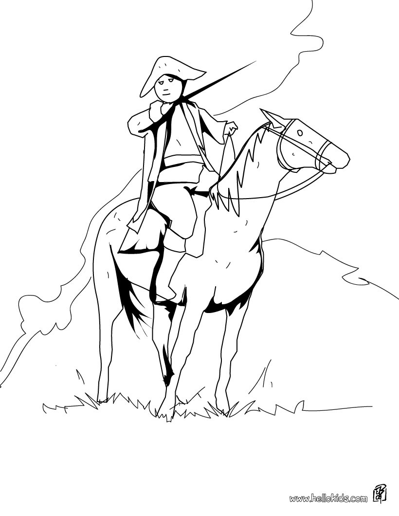 820x1060 Us Soldier And Horse Coloring Pages