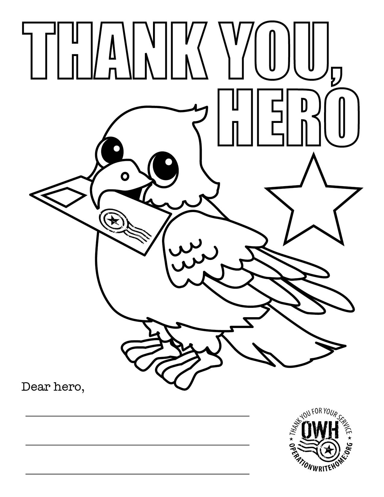 1275x1650 Veterans Day Thank You Coloring Page