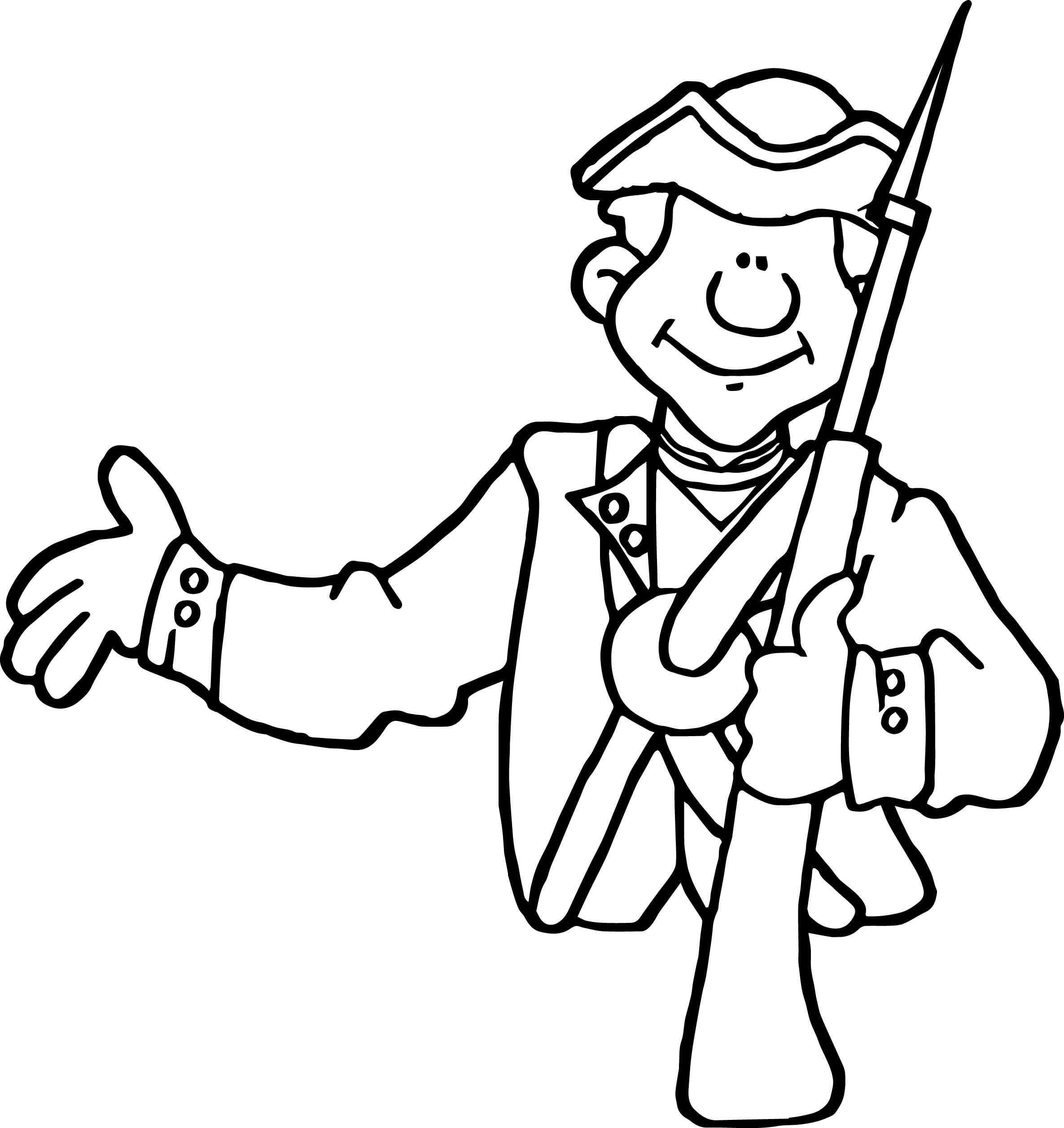 2371x2513 British Revolutionary War Soldier Coloring Page Free Printable