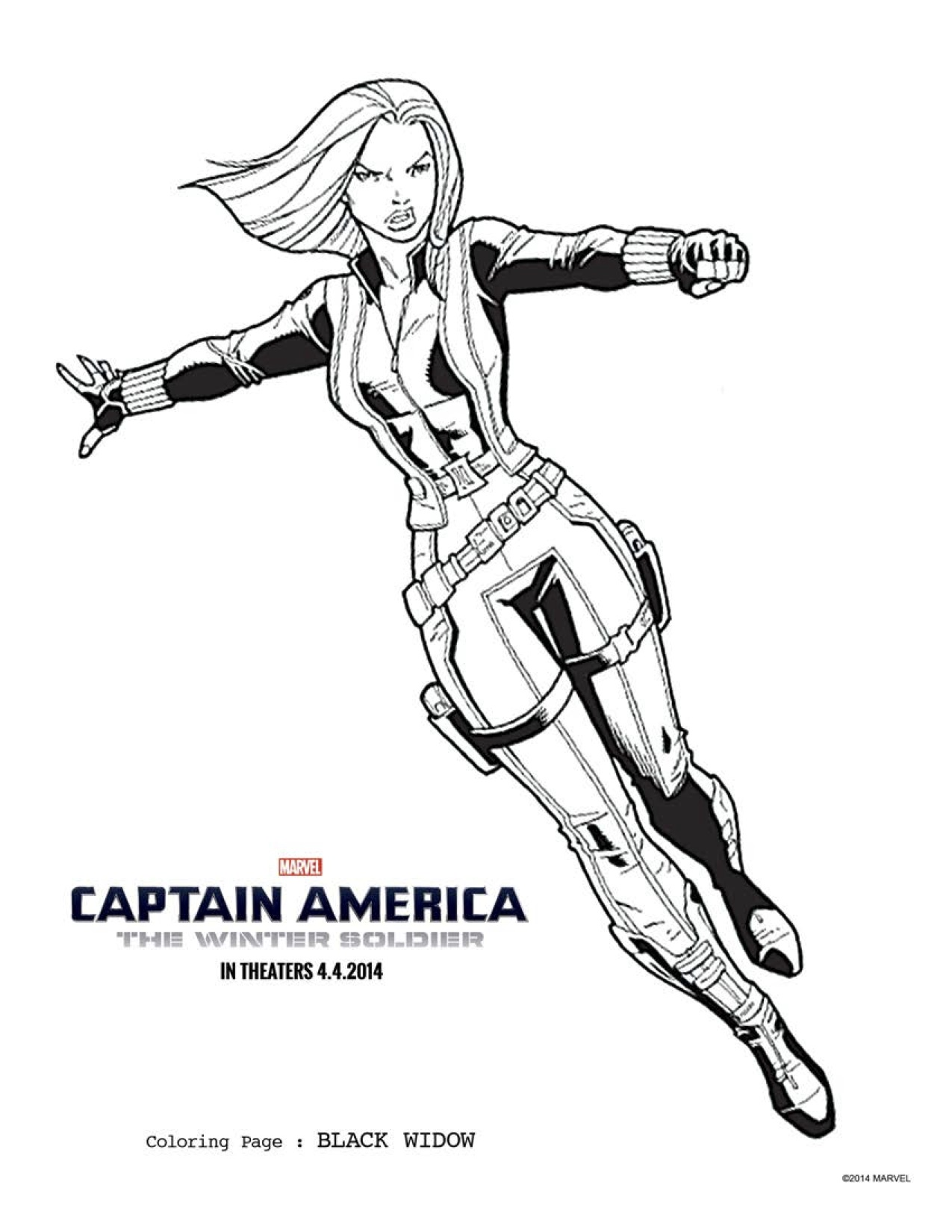 1275x1650 Captain America Winter Soldier Coloring Pages