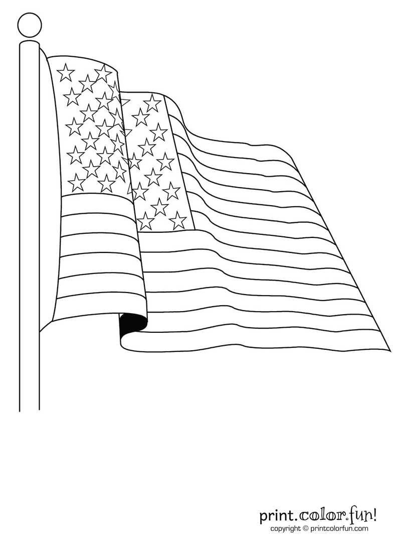 800x1080 Coloring For Kids Two Usa Flags Pages Freecolorngpagescoing