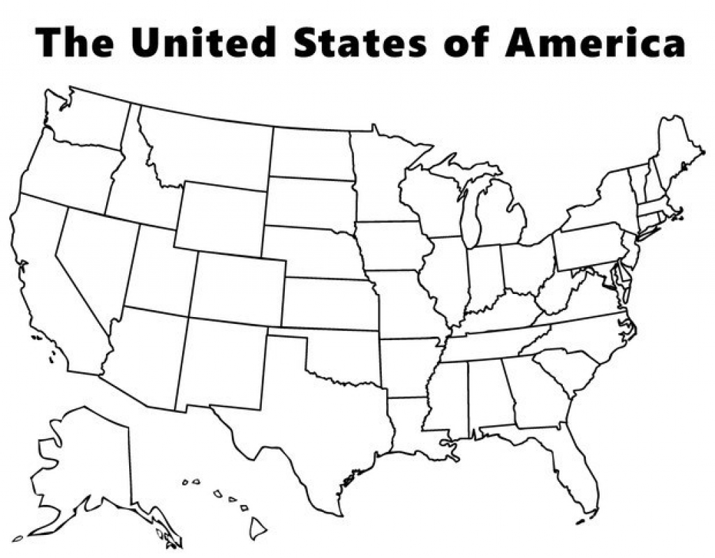 Us States Coloring Pages At Getdrawingscom Free For Personal Use - Blank-printable-us-map