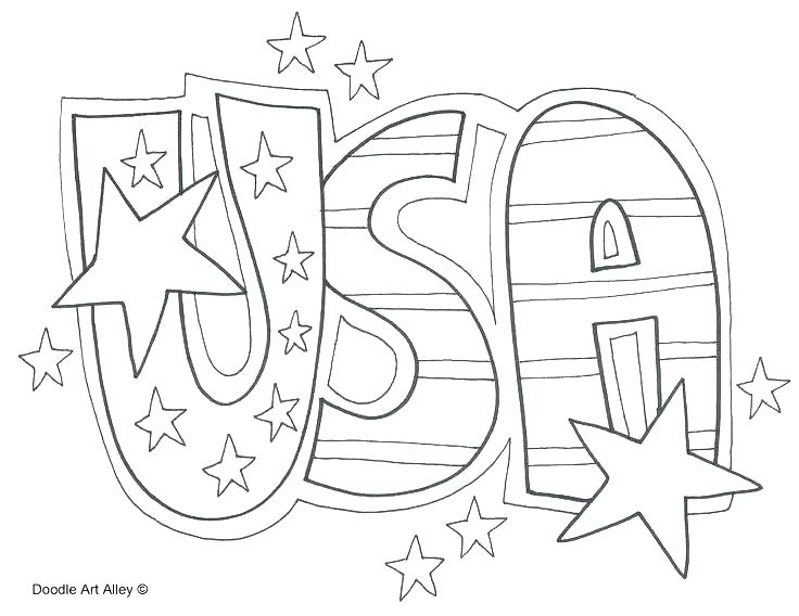 736x568 Coloring Pages American Flag Preschoolers Coloring Page Flag