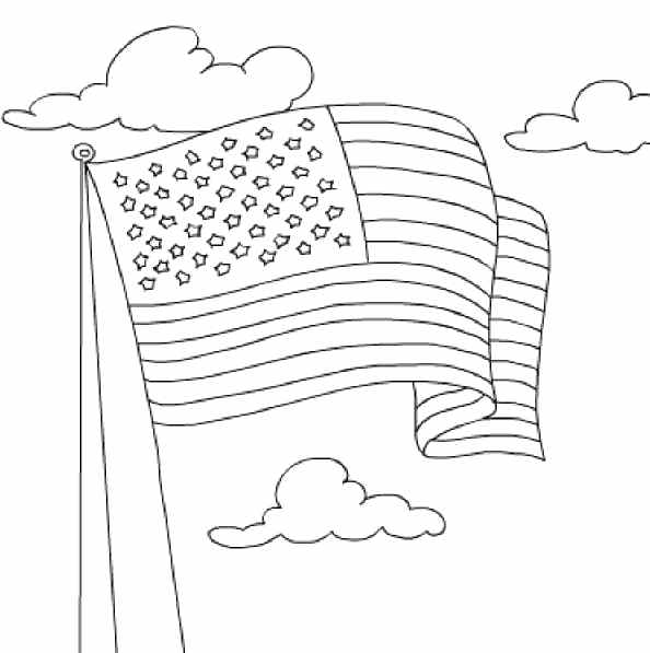594x597 Flag Color Page Fearless Flag Coloring Usa Flag Pictures To Color