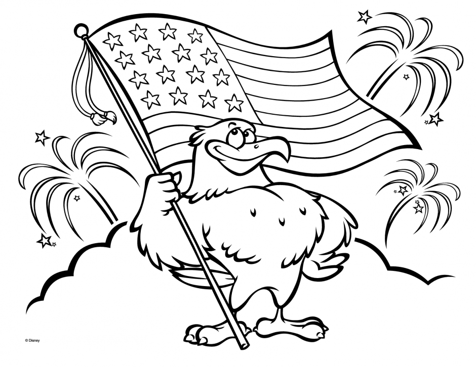 940x726 American Flag Coloring Pages
