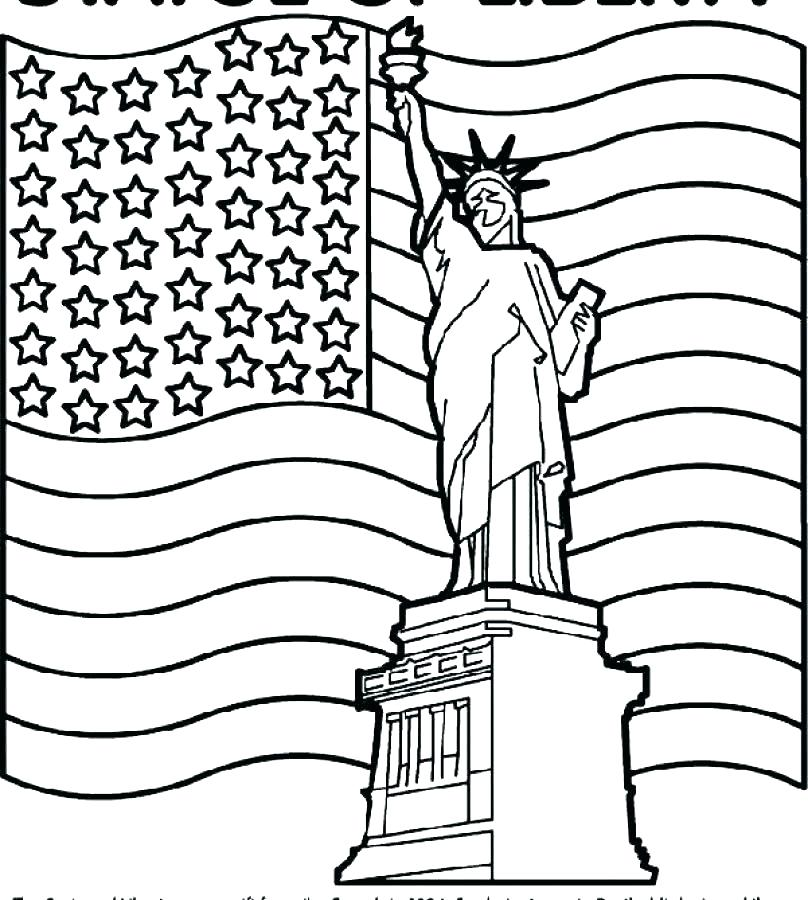 808x900 Usa Flag Coloring Page