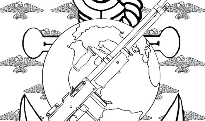 700x415 Coloring Pages Usmc Best Military Army For Veterans Day Printable