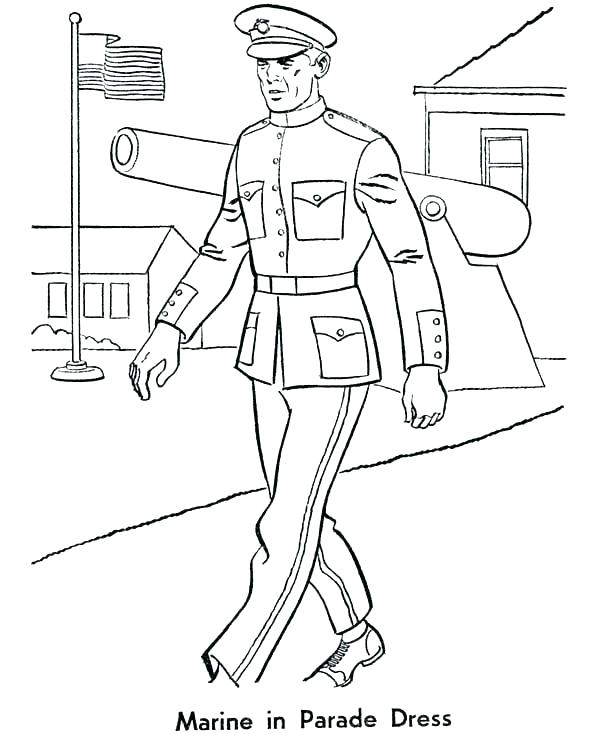 600x734 Marine Corps Coloring Pages Coloring Pages Of United States Marine