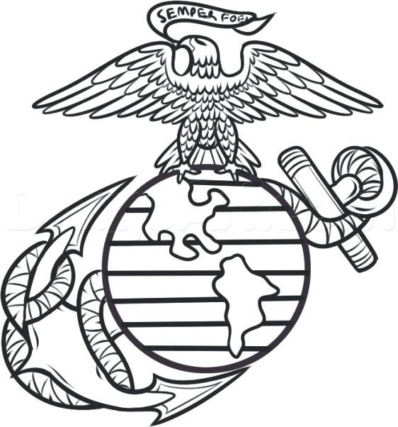 562x602 Wonderful Interesting Marines Coloring Pages New Marine Corps