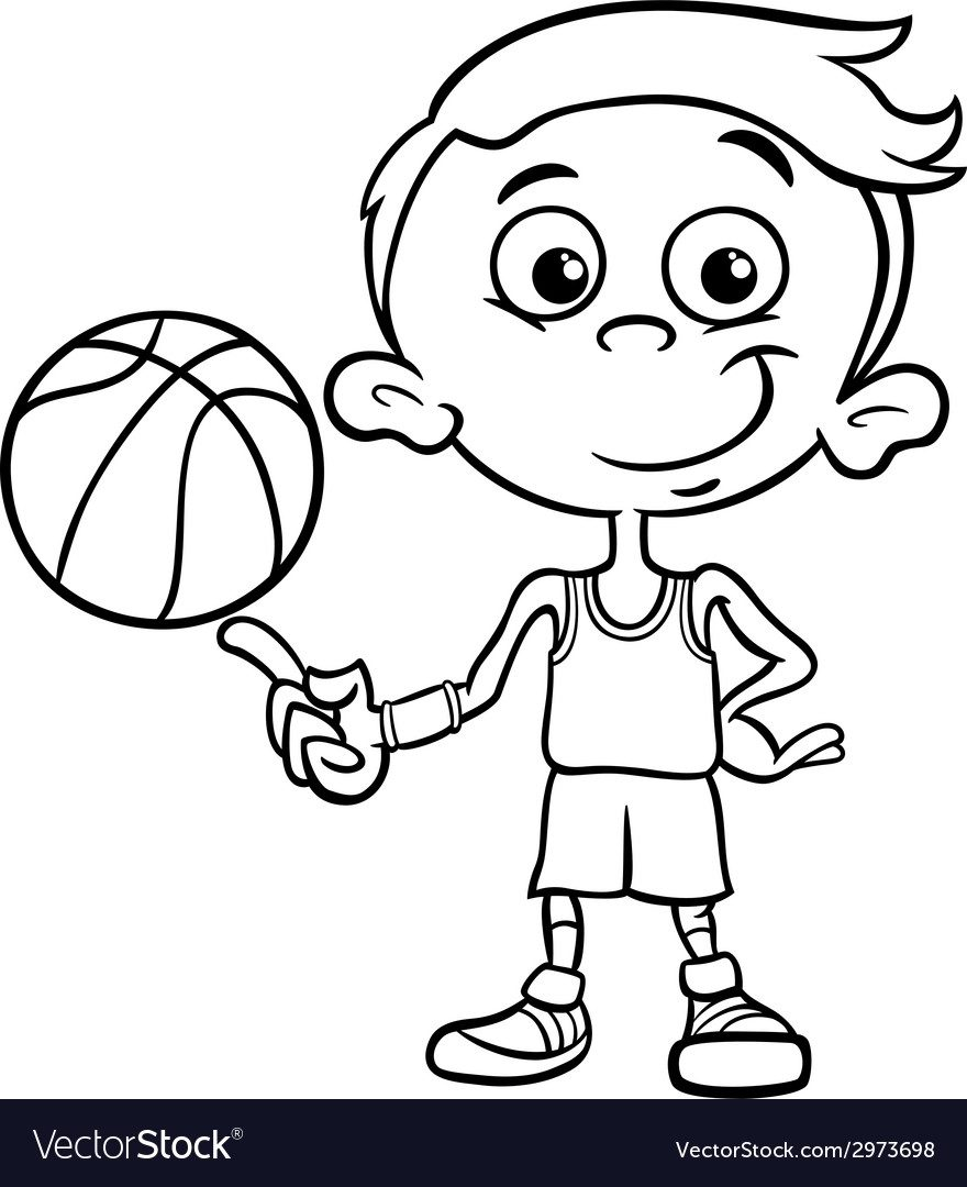 880x1080 Slam Dunk Coloring Pages Magnificent Basketball At Book