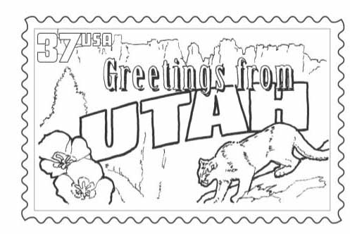 497x332 Utah Coloring Pages Utah State Symbols Coloring Pages Kids