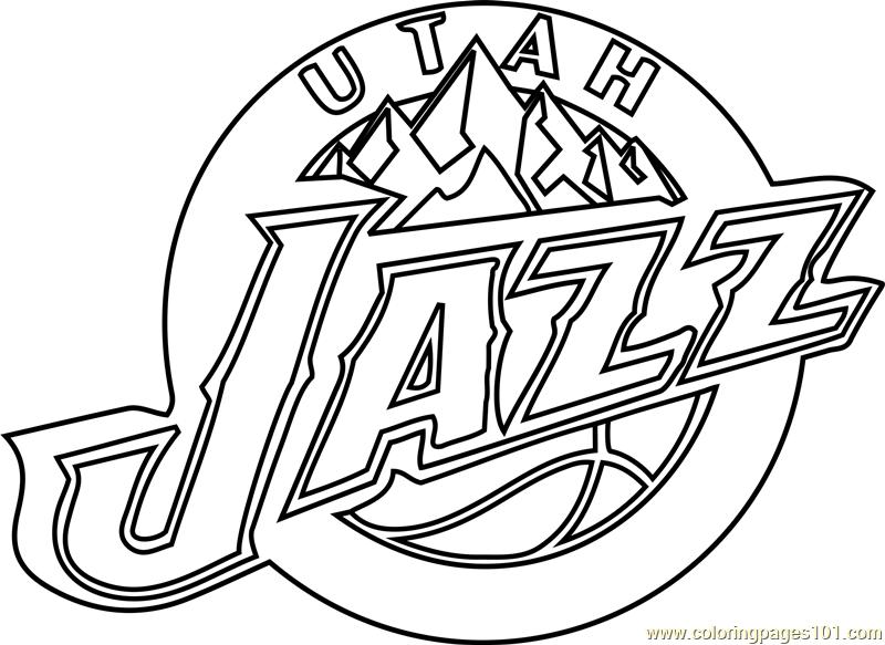 800x583 Utah Jazz Coloring Page