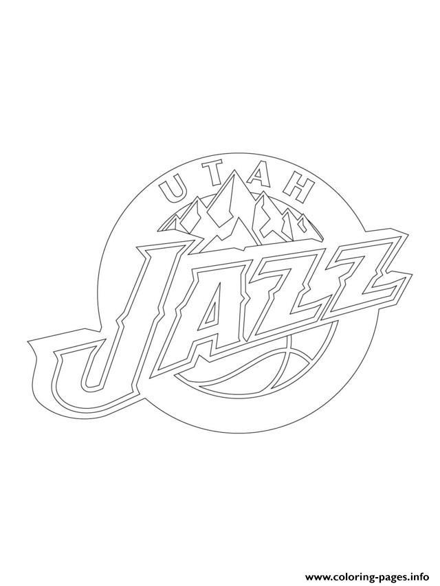 640x853 Utah Jazz Logo Nba Sport Coloring Pages Printable
