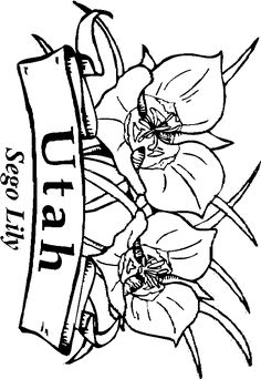 236x342 Utah State Flag Coloring Page United States Mountain States