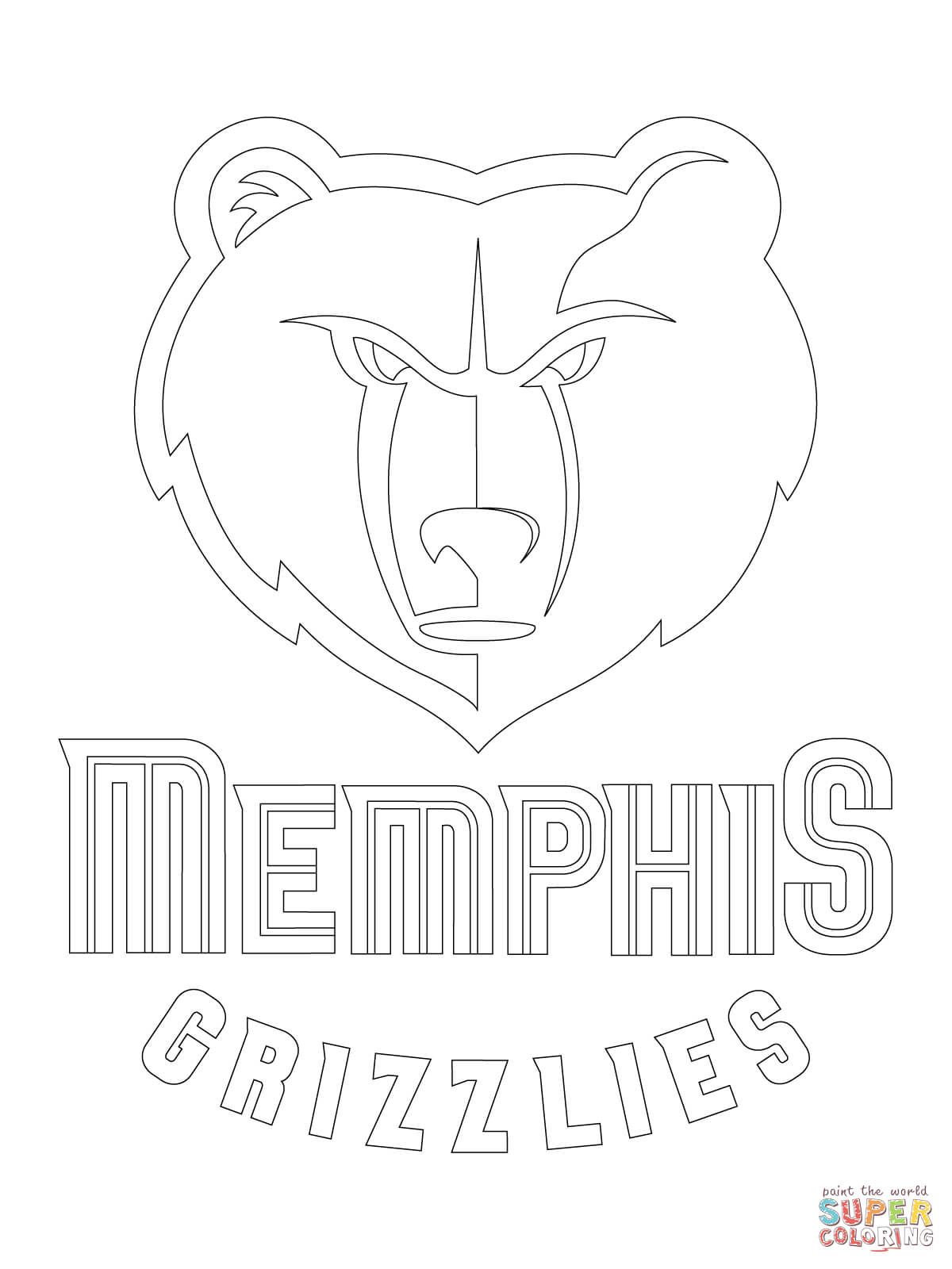 1200x1600 Endorsed Utah Jazz Coloring Pages Memphis Grizzlies Logo Page Free