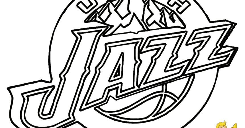860x450 Jazz Coloring Pages Lovely Printable Nba Coloring Pages Nba Logos