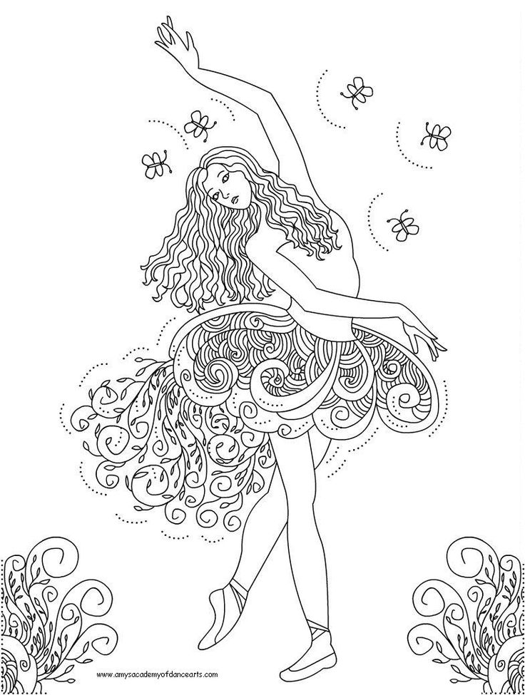 736x975 Jazz Dance Coloring Pages For Kids Printable To Beatiful Draw