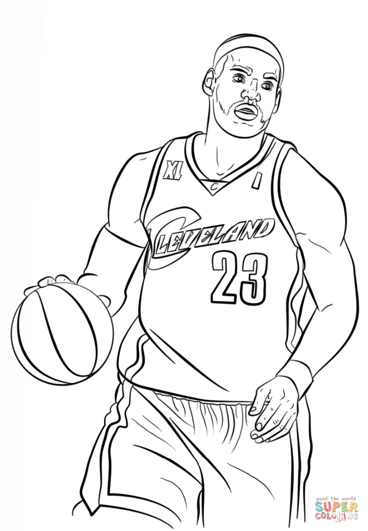 750x1080 Lebron James Coloring Pages