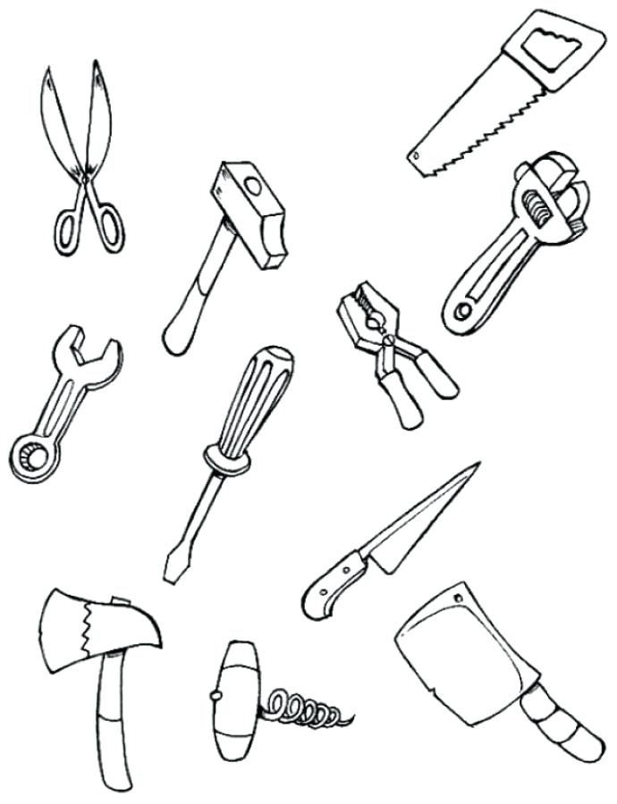 Utensils Coloring Pages