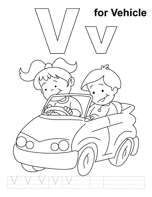612x792 Letter V Coloring Page Letter V Coloring Page Coloring Trend