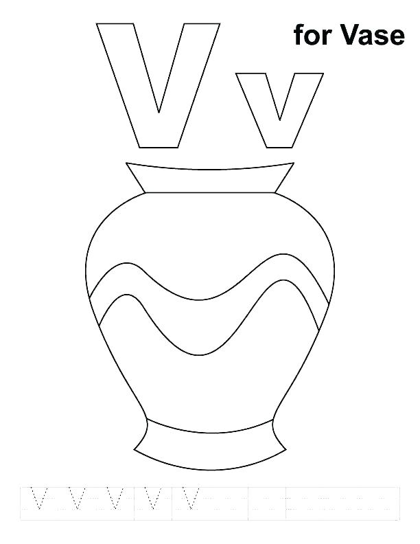 612x792 Letter V Coloring Page Letter V Coloring Pages V Coloring Page