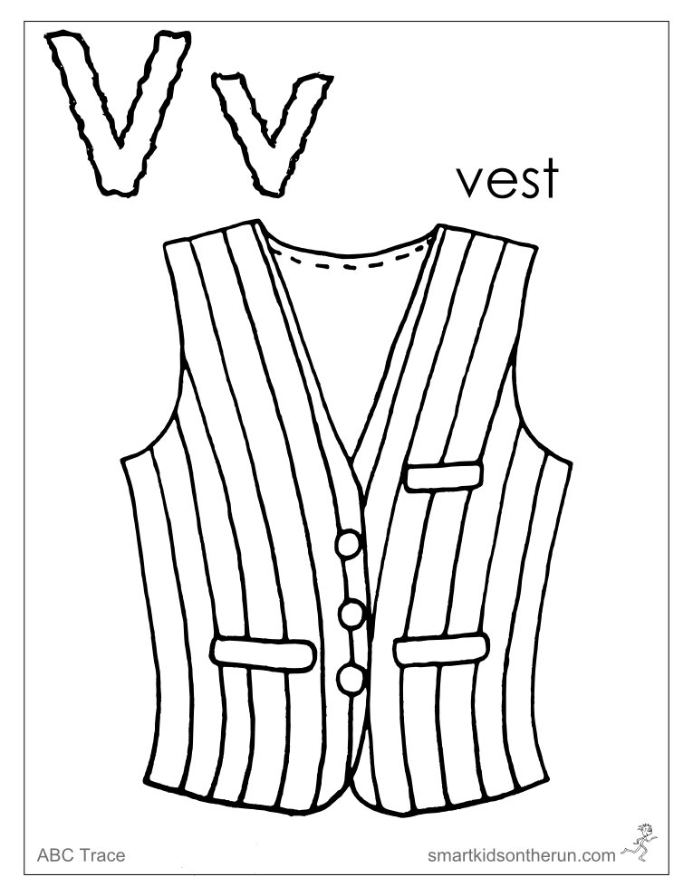 765x990 Letter V Coloring Pages