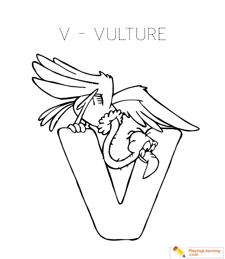 720x830 Coloring Letter V Coloring Page For Kids