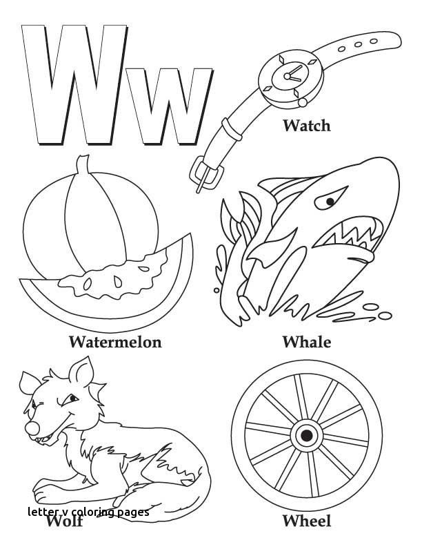 612x792 My A To Z Coloring Book Letter W Coloring Page Kids For Letter V