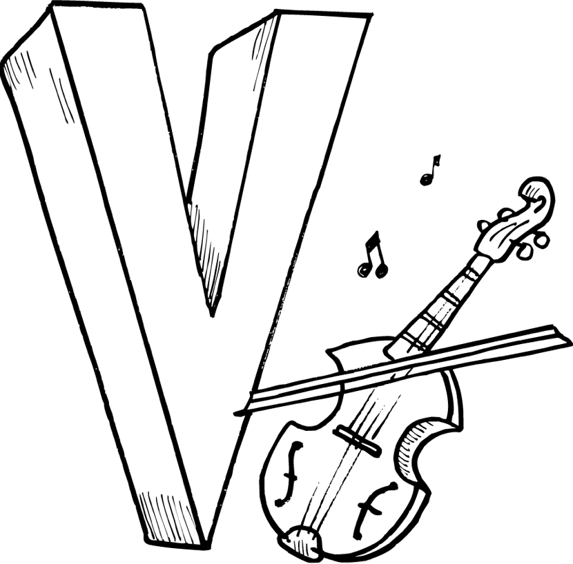 830x818 V Coloring Page Coloring Book