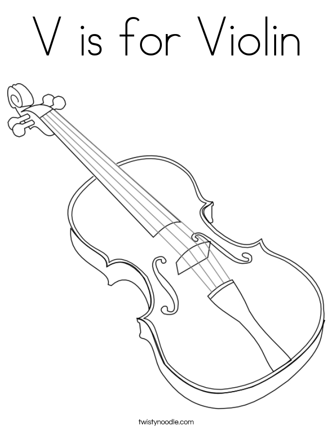 685x886 V Is For Violin Coloring Page