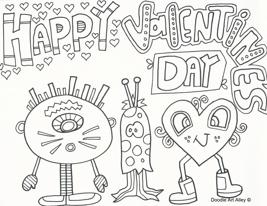 1035x800 Valentines Day Coloring Pages
