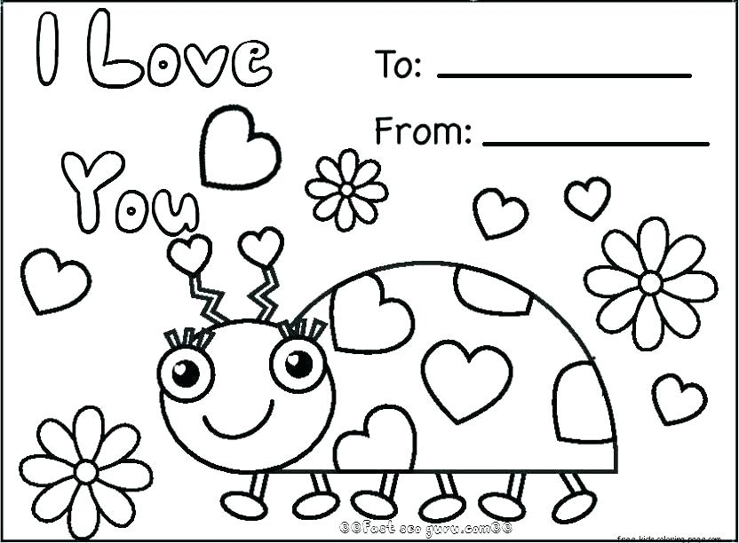 832x612 Coloring Pages For Valentines Day