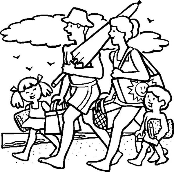 Vacation Coloring Pages